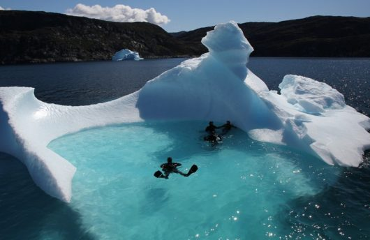 diving in Greenland