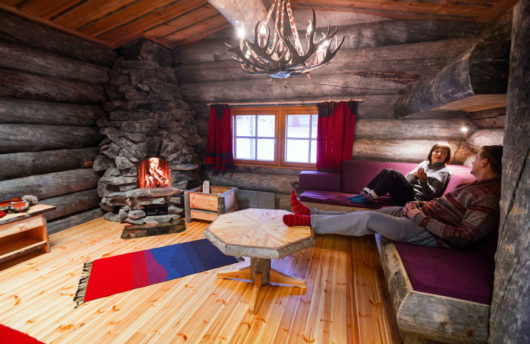 Kakslauttanen West Village large cabins inside