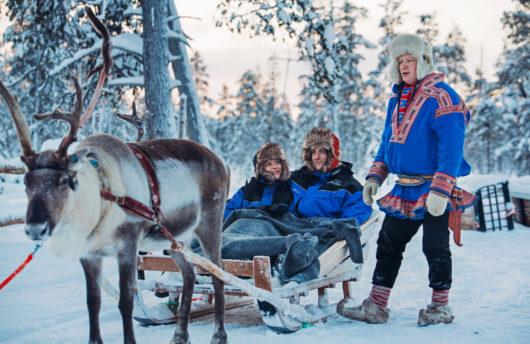 reindeer safari at kakslauttanen