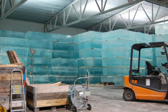 Storage of Ice at Ice Hotel