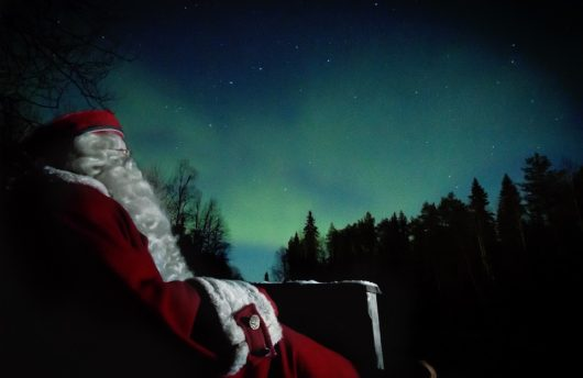 Santa Claus and the Northern Lights
