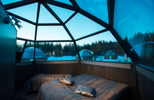 Inside the Glass Igloos