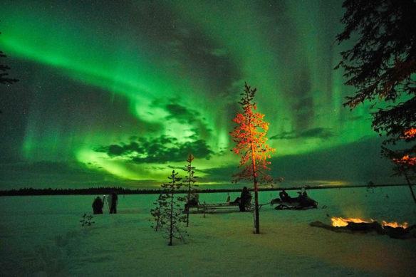 Northern Lights Lodge snowmobile
