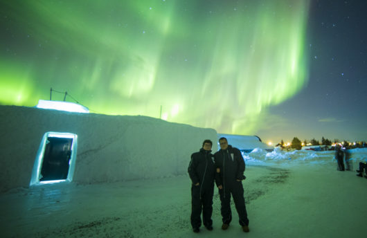 Northern Lights at Ice Hotel