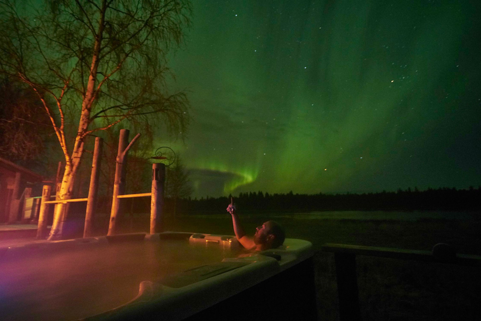 Kangos Northern Lights Lodge, perfect location for aurora viewing ...