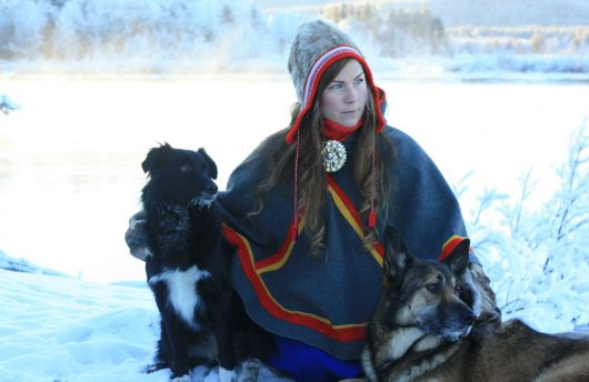 traditional sami in lapland