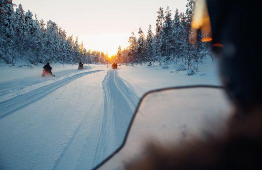 snowmobile at kakslauttanen arctic resort