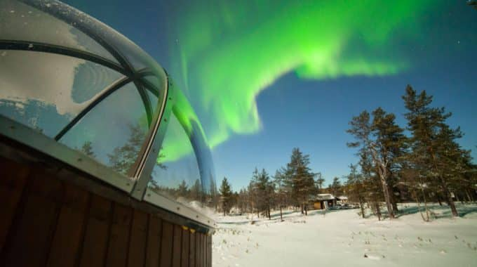 Glass Aurora Bubble Nellim - best place to see the Northern Lights
