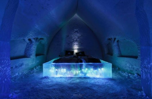 room of ice at arctic snow hotel