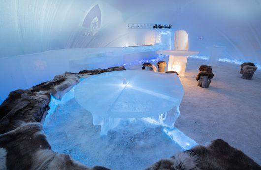 igloo ice hotel ice bar
