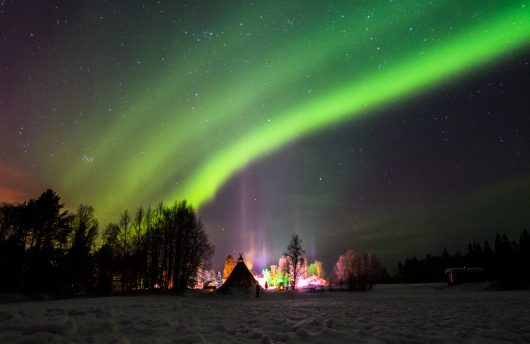 Northern Lights at Apukka Resort with Arctic Direct