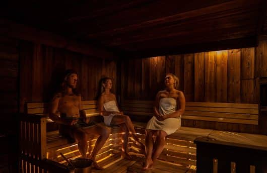 Sauna space at ICEHOTEL
